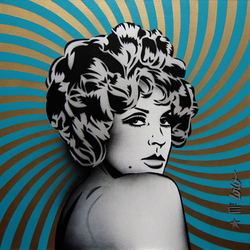 SILVER GIRL (70x70) / 2017