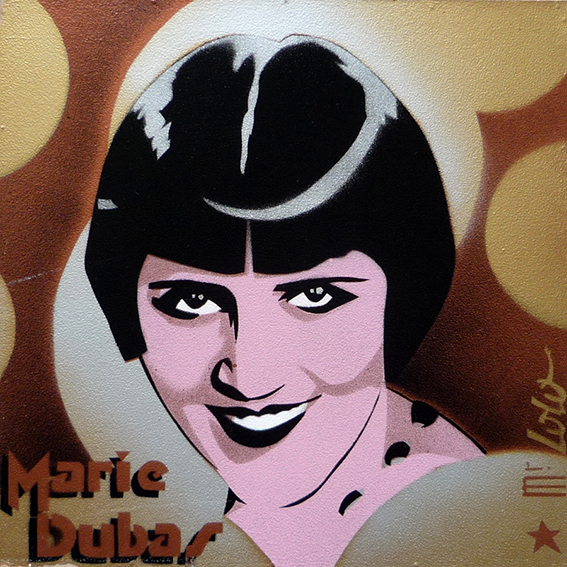 Marie Dubas / pochoir sur toile (30x30cm) / 2009
