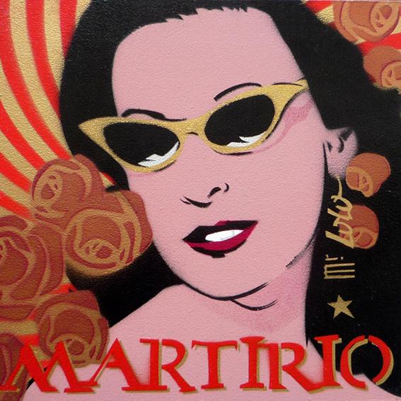 Martirio / pochoir sur toile (30x30cm) / 2009