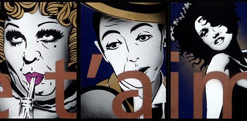 2010 / Je t'aime - Cabaret /  Polyptique (27x22cm)x5