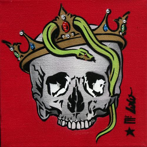 2014 / Vanité au serpent 2 / Pochoir sur toile (20x20)