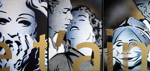 2005 / Je t'aime - Brazil /  Polyptique (27x22cm)x5