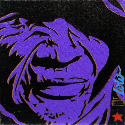 2003 / Regards d'ailleurs / Pochoir sur toile / 25x25