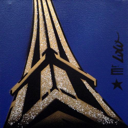 2012 / La Tour Eiffel by Night / 30x30