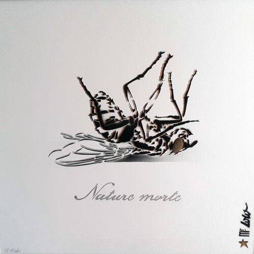 2020 NATURE MORTE pochoir sur papier Montval 300gr (50x50cm)